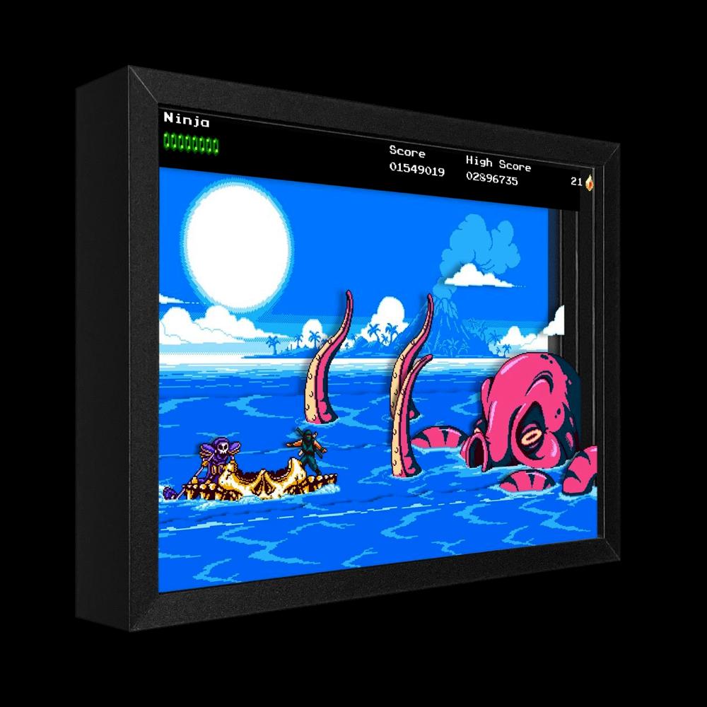The Messenger Picnic Panic Shadowbox Art - $129.00 USD